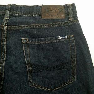 Seven7 Jeans - Seven 7 Mens Straight Leg Jeans Blue Size 32 x 32